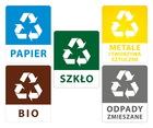 Naklejki na kosze - segregacja odpadów (2)