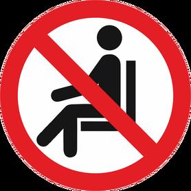 Naklejka samoprzylepna znak zakaz siadania nie siadać