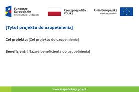 Tablica informacyjna Infrastruktura i Środowisko Fundusz Spójności